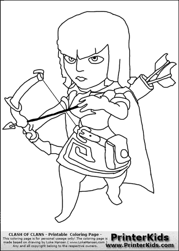 Archer Clash of Clans Drawing Clash of Clans Archer Coloring