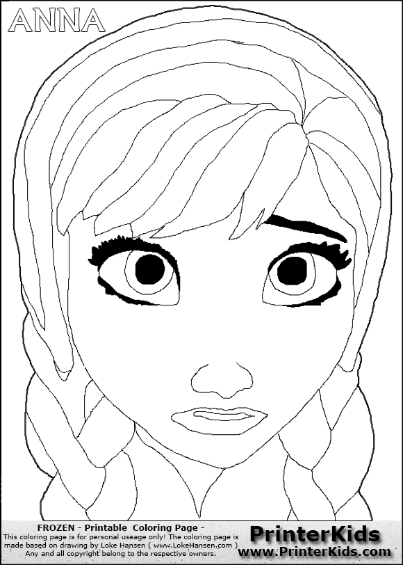 Frozen Mask Coloring Pages : Show me more frozen mask colouring pages