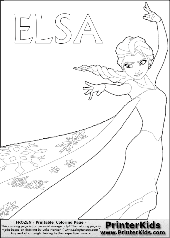 Free Coloring Pages Of Princess Elsa Disney Princess Elsa Coloring Pages Printable
