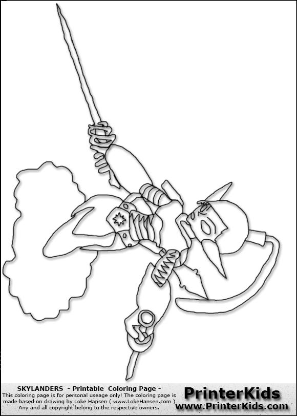 Skylanders coloring pages ninjini